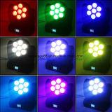 tête mobile de faisceau lumineux d'effet d'étape de 7X12W RGBW 4 in-1 DEL