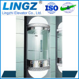 Kleines Selbstpassagier-Ausgangspanoramisches Glashöhenruder mit rundem Deckel