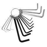 14PCS Metic & Imperial Cr-V Steel Wrench Allen Key Hex Key Set