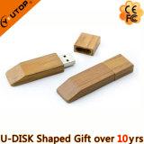 昇進のギフトのシルクスクリーンのカスタムロゴ木USB Pendrive (YT-8118)