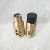 бутылка воды золота 30ml алюминиевая с черной пластичной крышкой