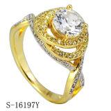 Het echte Zilveren Zirkoon belt de Ringen van de Unieke BloemenVrouwen van Ontwerpen