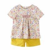 100%年の綿の子供の服装の女の子の方法Tシャツ