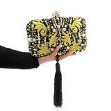 21cm Handmade 핸드백 수정같은 화려한 구슬로 만드는 술 형식 여자 숙녀 이브닝 백