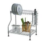 Шкаф Drainer тарелки кухни металла крома DIY (CJ-C1137)