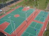 Sport che pavimentano per la corte di volano, campo da pallacanestro, corte dell'unità di elaborazione del silicone
