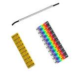 고품질 및 가장 싼 다채로운 숫자 및 편지 케이블 마커 지구