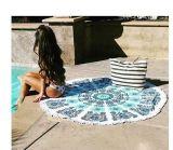 円のビーチタオルの円形のトルコタオル