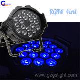 Luz de la IGUALDAD de la colada LED del zoom de IP20 18*10W RGBW4in1 para la decoración (P18-4)