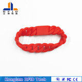 Wristband astuto personalizzato del silicone di RFID per le pattuglie dell'acqua