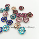2017 Populair en verwarm 7mm het Losse Plaatsen van de Klauw van de Bloem van Kristallen Swaro op de Parels naait van het Glas (de hemel blauwe ronde van tP-7mm)