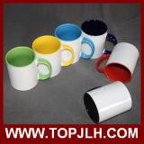 Sublimation en gros doubles tasses en céramique colorées de 11 onces