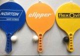 Пластичные ракетки затвора пляжа с по-разному цветом флуоресцирования
