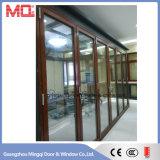 معياريّة ألومنيوم [فرنش] [بيفولدينغ] زجاجيّة باب ممون في الصين