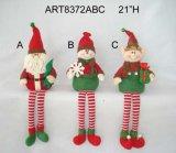 """украшение Craft-3asst рождества няни Санта, снеговика и эльфа полки 21 """" h"""
