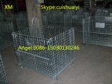 Contenitore resistente accatastabile e pieghevole della rete metallica della gabbia di memoria di Galanvized