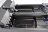 Friteuse profonde approuvée de l'acier inoxydable Ofe-28A de la CE de Cnix (doubles réservoirs et doubles paniers)