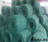 Sailin PVC上塗を施してある六角形の金網ワイヤー網