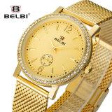 Belbi Luxuxgeschäfts-Art-Diamant-Kasten-Quarz-Mannesarmbanduhr