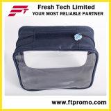 Saco relativo à promoção do cosmético do saco de mão do plutônio do PVC das senhoras