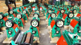 Máquina verde del molino de arroz del color del final
