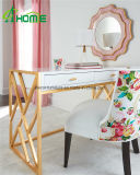 Sala de estar Antique Glass Mirrored Console Table