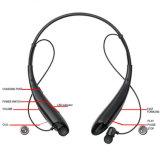 Receptor de cabeza de Bluetooth, auriculares plegables y retractables de V4.1 sin hilos de la tirilla de la camisa - negro