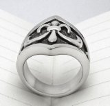 Matt Black Men's Ring Vintage Titanium Steel Casting