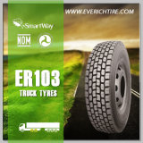 el carro de los neumáticos del acoplado 11r22.5 semi cansa todos los neumáticos de la posta de los neumáticos del carro del terreno