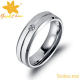 Anéis de aço pequenos do aço inoxidável da jóia da forma de Exsr31 316L