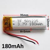 batterie rechargeable d'ion du polymère Li-PO Li de lithium de la batterie 501235 de 3.7V 180mAh pour la composante électronique mobile de MP3 MP4 MP5 GPS PSP