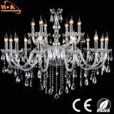 Lámpara de lujo grande de la sala de estar de la boda del cristal LED
