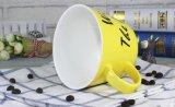 Tazas de café de cerámica grandes con el diseño de la etiqueta para la sopa
