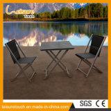 Schwarze Metallim freiengaststätte-Möbel-faltendes Patio-Stuhl-Tisch-Aluminiumset