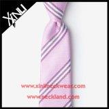 Piste bon marché de cravate d'école tissée par polyester