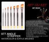 Künstler-Pinsel des Qualitäts-Nylonhaar-hölzerner Griff-977angle