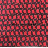 De Jacquard van Black&Red slikt de Voorraad van de Stof van de Wol Gird