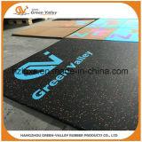 couvre-tapis en caoutchouc anti-bruit épais de carrelage de 1mx1m pour le matériel de gymnastique