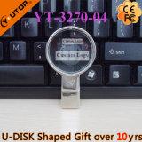 Творческий увеличивать - USB Pendrive кристалла стекла/объектива как подарки (YT-3270-10)