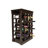 Cremalheiras de madeira modulares superiores da adega de vinho das cremalheiras da coluna do indivíduo 4