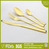 GV, FDA, jeu de vaisselle plate d'or de dîner d'acier inoxydable de LFGB