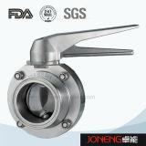 الفولاذ المقاوم للصدأ التعامل مع أدوات فرضت صمام فراشة (JN-BV1015)