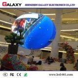 의 상점, 호텔, 단계를 위한 조정 실내 HD 유연한 구부려진 연약한 창조적인 LED 스크린 광고하거나 훈장 상점가