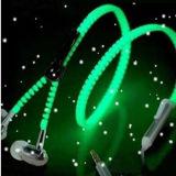 O fone de ouvido prendido o mais atrasado da em-Orelha 2017 com os auriculares luminosos do telefone do Zipper do Mic