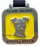犬のロゴのチームAkobeのためのXanderの挑戦メダル