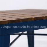 Оптовая таблица трактира металла с деревянной верхней частью таблицы (SP-RT568)