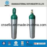 cilindro de oxigênio de alumínio portátil pequeno de alumínio do cilindro de oxigênio 10L