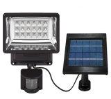 Luz recarregável solar da segurança do diodo emissor de luz com sensor de movimento
