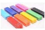 Cadre de crayon lecteur de papeterie de silicones d'écoles et de bureaux de Debossed de logo personnalisé par rectangle décoratif promotionnel