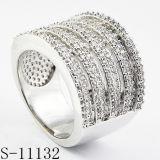 Het Zirkoon van de Ring van de manier belt 925 Zilveren Ringen van Dames